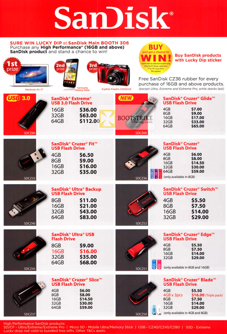 Sandisk Extreme Usb Flash Drive Lucky Dip Cruzer Fit Ultra Backup Flashdisk Cruizer Edge 8gb Pc Show 2012 Price List Image Brochure Of