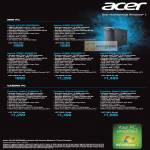 Desktop PC Aspire AX1430 E350M45, X3990 I212M25, X3995 I34MR45, I34MR81T, I37MR82T, Predator G3610 I24MR41T, I26MR81T, I26MR162T