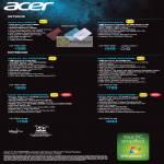 Acer Notebooks Netbooks Aspire One AOD270, AO722, E1-421-E4502G50Mn, 5560G-63424G50Mn, V5-471G-32364G50Mn, V3-571-53212G50Mn