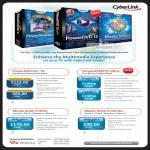 Cyberlink PowerDirector 10, PowerDVD 12 Ultra, Media Suite 9 Ultra, Media Suite 9 Centra Software