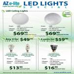 AZ E-Lite LED Ceiling Lights, LED Bulbs, Azpire Globe, Azpire Candle, Azcend Globe