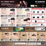 Canon Digital Cameras DSLR EOS 7D, EOS 60D, EOS 600D, EOS 1100D, Video Camcorders HF G10, HFS30, HFM52, HFM56, HF R38, HF R36