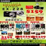 Digital Cameras EX-Z28, EX-ZS100, EX-SZ20, EX-ZR10