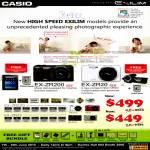 Digital Cameras EX-ZR200, EX-ZR20