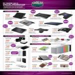 Notebook Cooler Notepal Ergostand, A100 X2 I100 U-LITE X-LITE CMC3, PowerFort Battery C-2021 C-2010 C-2006, IPad IPhone Case Folio