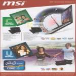 MSI Notebooks C Series CR460, CR650, U Series U180