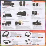 Wired Speakers GigaWorks T3, T40 Series II, T20 Series II, Inspire S2, T6160, T12, T3130, T10, D160, Headphones Wireless WP-650, 350, 250, 300