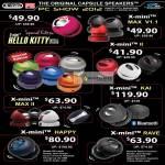 Epicenter X-Mini Capsule Speakers Hello Kitty, Max V1.1, II, Max II, Kai, Happy, Rave