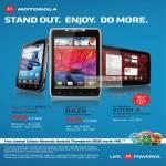 Atrix 2, Motorola Razr, Motorola Xoom 2 Smartphones, Singtel, M1