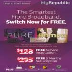 Broadband Fibre Free Service, Free 5 Months Subscription