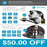Newstead Bluetrek Bluetooth Headset Carbon, MusiCall Wireless Stereo Headset