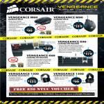 Convergent Corsair Vengenance Mouse M60, M90, K60 Keyboard, K90, 1500 Headset, 1300