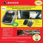 Systems Tech Ranger Solar Powered Bluetooth Speakerphones Car Kit