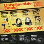 Daily Deals BA700, WR700, ST700, BA100, BA200 Headphones, EB900 Earphones, EB950