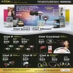 Earphones Clef In-Ear ECAS250 Smart, ECXS250 XSmart, P EC40 EC41 EC42, Cocktail EC150, X EC300, R 3C200, A SB21 SB22 SB23