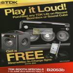 Free XtremeMac In-Charge Sync With Any Life On Record Boombox Purchase