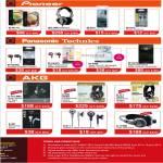 Pioneer Headphones, Earphones, SE-MU 151, HDJ-1000, Panasonic, Technics RP-HJE70, AKG K-141 MKII, K-240, K-171, K-321, K-311, K-172HD