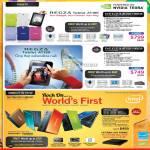 Tablets Regza AT100-10003G, AT1SO-10003G, Netbook NB520-1066