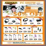 Audio Master Kicker Headphones Earphones HP541, HP541TJ, HP201B, HP201W, HP301, EB51BL, EB71B, EB141S, EB91B, EB101B