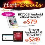 BK7009i Android EBook Reader, Bmorn Android 4 Tablet V15