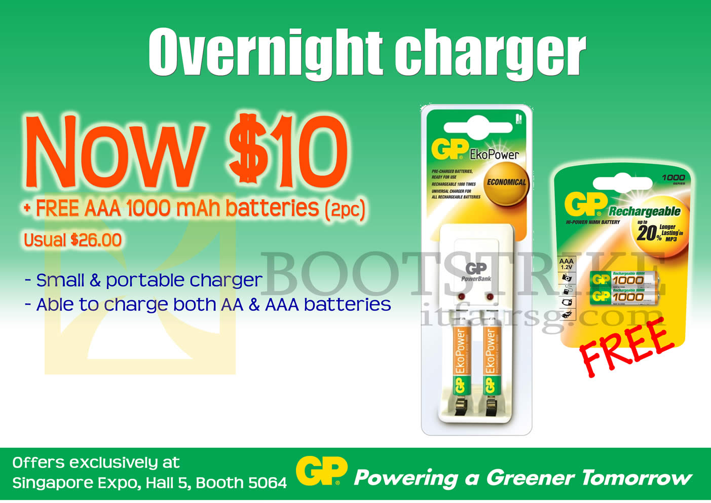 PC SHOW 2013 price list image brochure of GP Battery Overnight Portable Charger