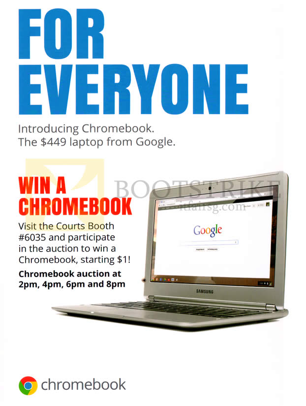 PC SHOW 2013 price list image brochure of Google Courts Chromebooks From 449, Win A Chromebook