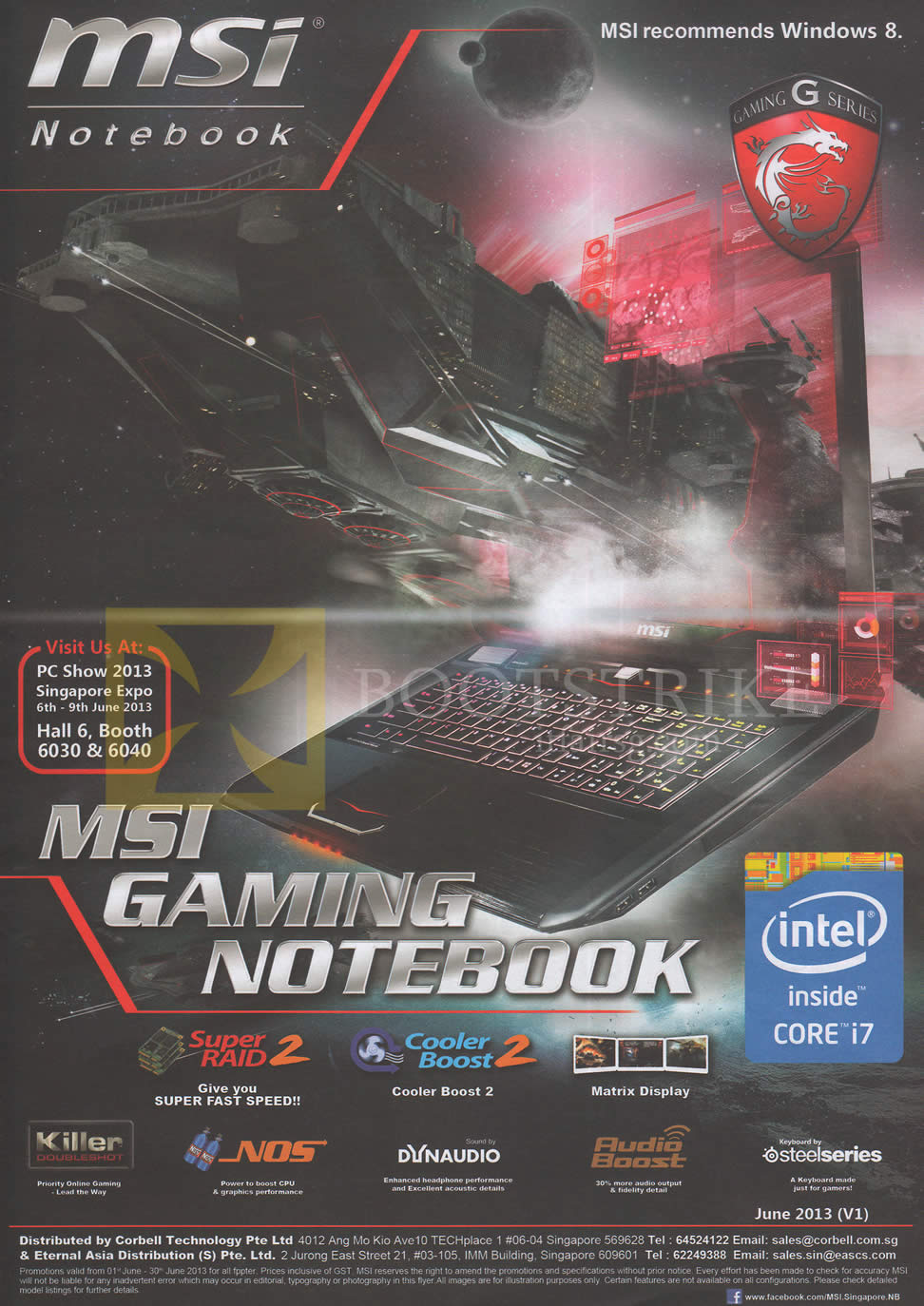 PC SHOW 2013 price list image brochure of MSI Gaming Notebook Overview, Features