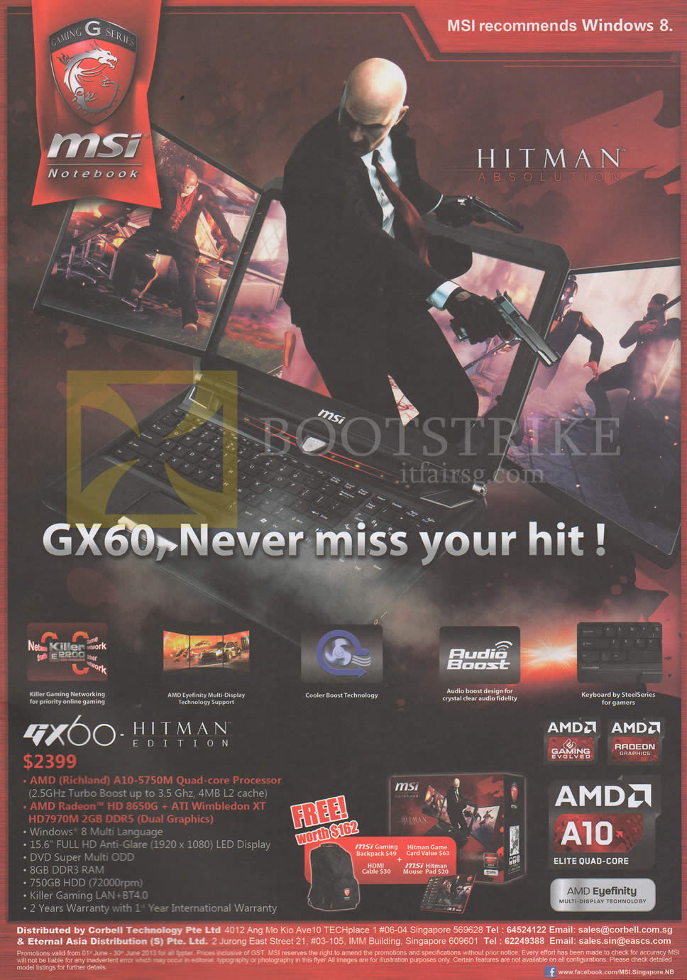 PC SHOW 2013 price list image brochure of MSI Notebook GX60 Hitman Edition