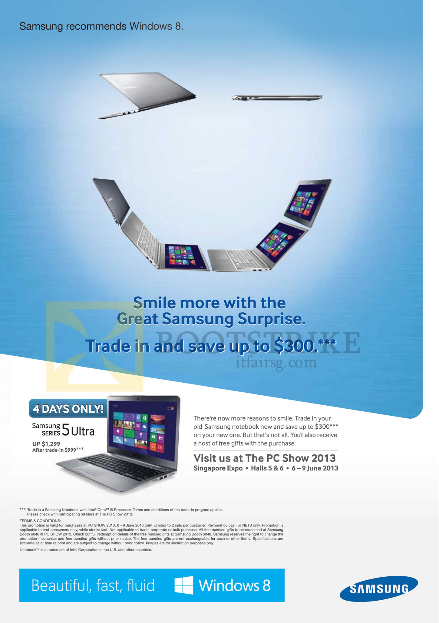 Samsung notebook in singapore - Pc Show 2013 Price List Image Brochure Of Samsung Notebook Series 5 Ultra Trade In