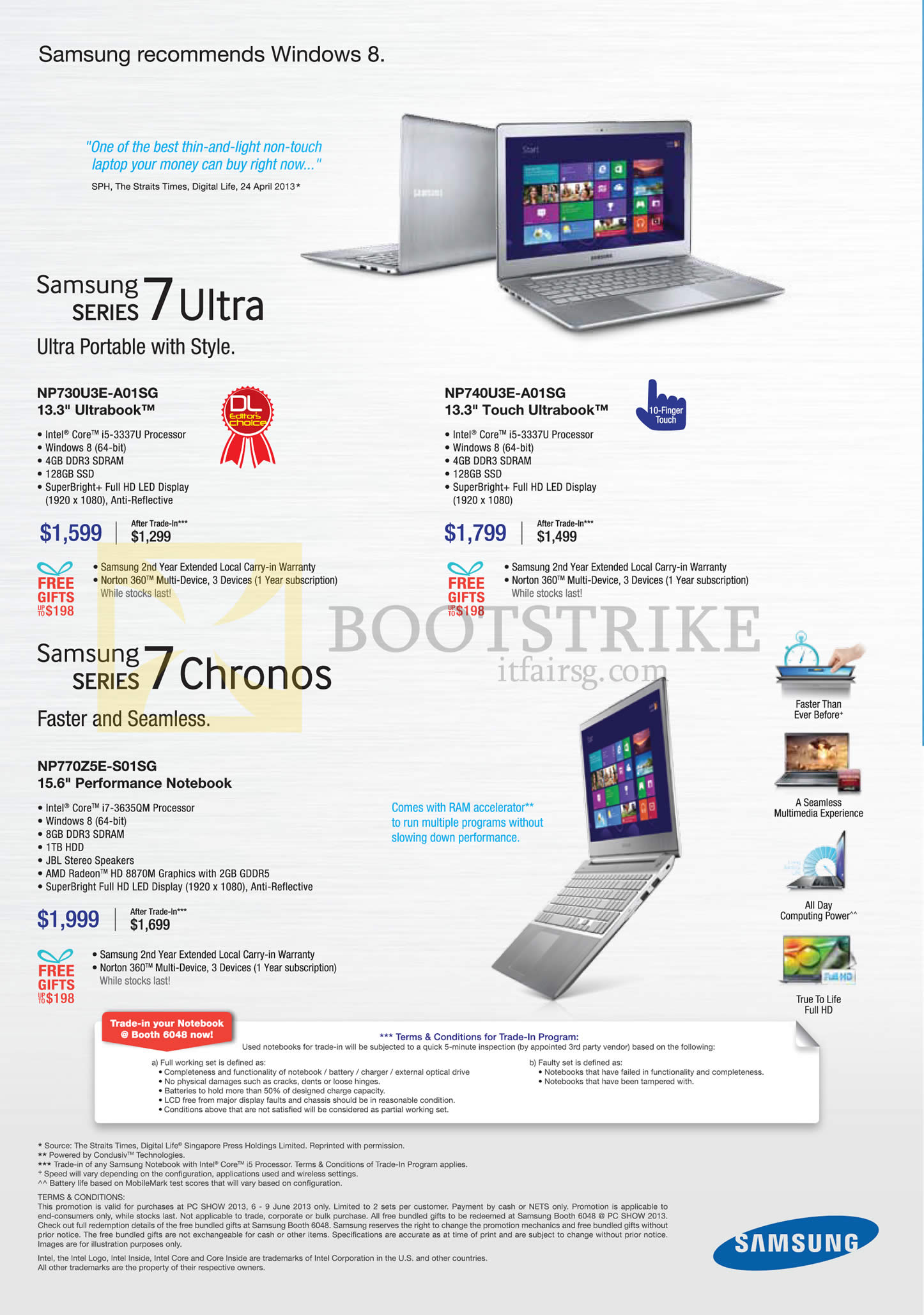 Samsung notebook in singapore - Pc Show 2013 Price List Image Brochure Of Samsung Notebooks Series 7 Ultra Np730u3e A01sg