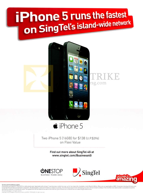 PC SHOW 2013 price list image brochure of Singtel Business Apple IPhone 5