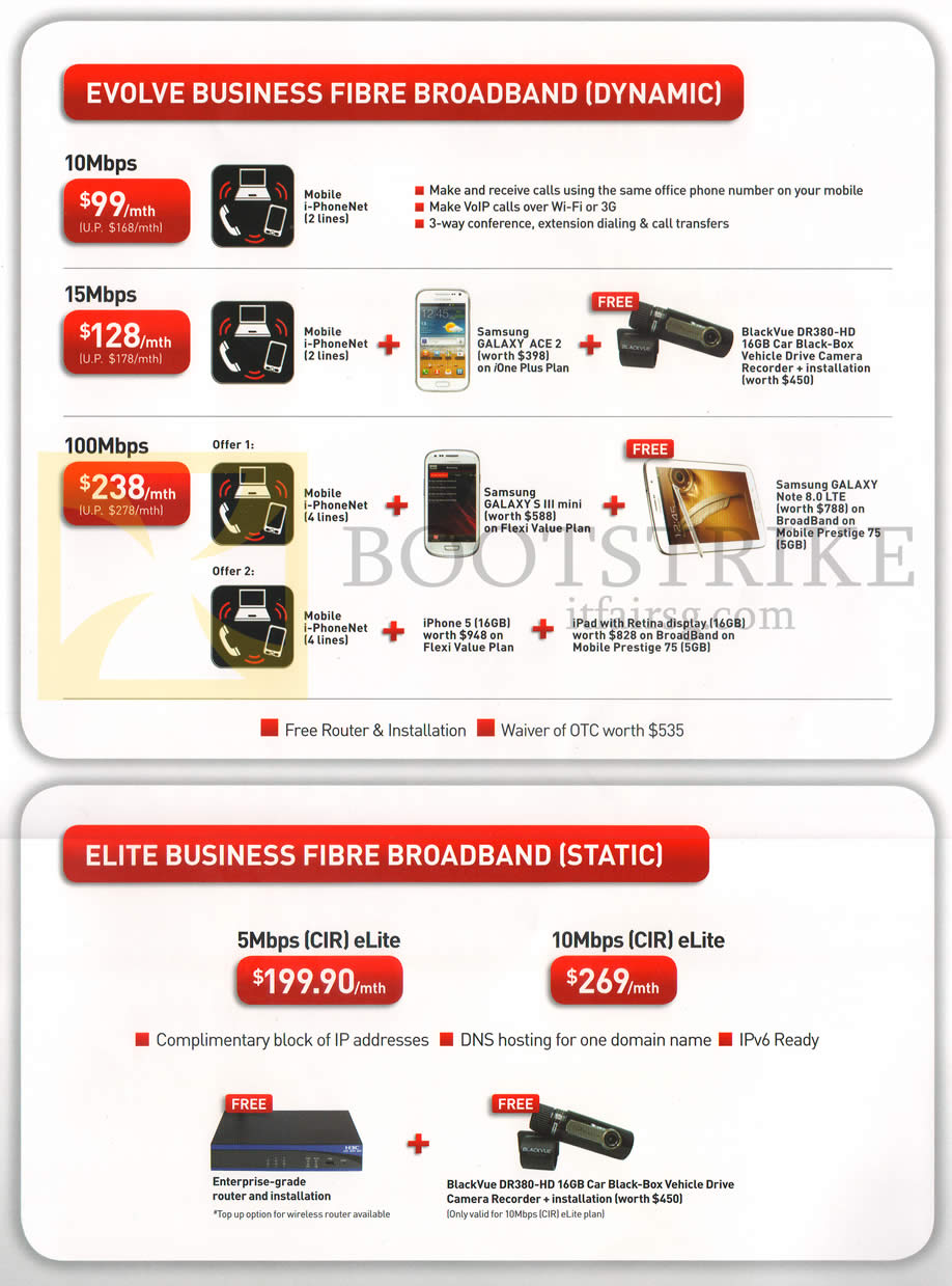 Singtel business plan promotion