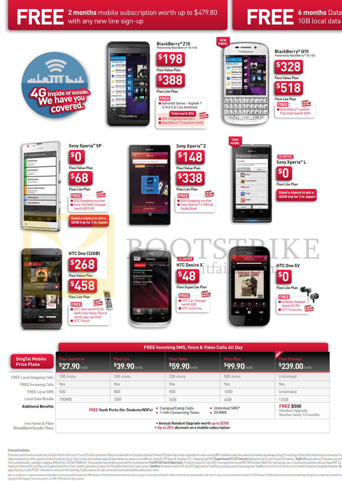 Singtel Mobile Price Plans Flexi Blackberry Z10 Q10