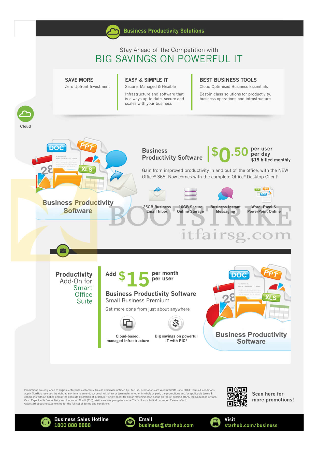 PC SHOW 2013 price list image brochure of Starhub Business Productivity Software