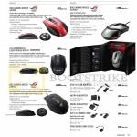 Notebooks Accessories ROG Gaming Mouse GX900, Laser WX470, GX950, GX1000, Power Adapters, Cables