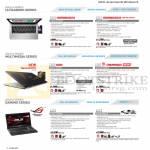 Notebooks S46CB-WX058H, S46CB-WX007H, N56VZ-S4328H, N550JV-CM041H, G75VX-T4072H, G75VX-CV071H