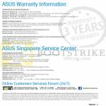 Warranty Information, Service Centres