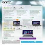 Desktop PCs AIO Aspire Z ZS600, ZC-605, Z1620, 7600U