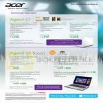 Notebooks Aspire S7-191-53334G12a, S7-391-53334G12a, S7-391-73534G25a, V5-471PG-33224G50Ma, V5-571PG-53334G50Ma