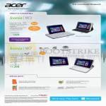 Tablets Iconia W3-810, W701