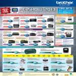 Printers Laser HL-2130, 2240D, 2270Dw, DCP-7060D, MFC-7360, Inkjet J625DW, J825, 9320CW, Scanners DS-700D, ADS-2600W, Labellers P-Touch PT-H105, 2030
