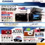 Casio Digital Cameras ZR1000, QV-R300, JE10