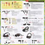 Earphones Hitz MA200 MA330 HS-930i2 MA930 HS-660i2, Aurvana In-Ear2 In-Ear3, EP 650 830, X-Fi Headphones, Draco