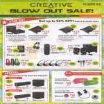 Sound Cards, Speakers, Sound Blaster Fatal1ty Chamion, Recon3D, Zen X-Fi 3, SBX 8, Inspire T3130, Earphones, ZiiSound D5x DSx D100