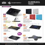 Cooler Master CM Storm Notebook Coolers Ergo, Notepal, I100 A100 I300 L1 X-Pal