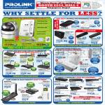 Prolink PIC1003WP IPCam, 3G WiFi Hotspot, Modem Router, Powerline HomePlugs Adapter, LAN Card, Switches