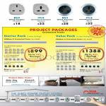 Power Outlet System Project Packages, Plugs British Compact, International, Premium