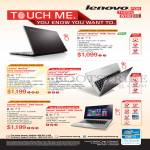 Notebooks Ideapad S400, U310, U410, Z400