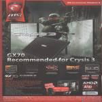 Notebook GX70 Crysis 3