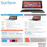 Tablets Surface RT, Surface Pro